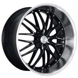 MRR GT1 Wheels Rims 19X8.5 19X9.5 staggered Black w Polish