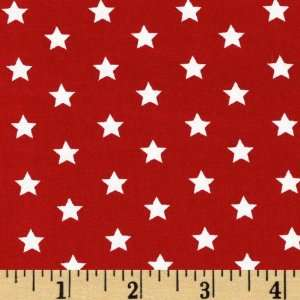 Pimatex Basics Stars Red Fabric By The Yard Arts, Crafts & Sewing