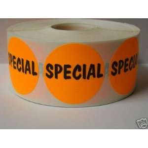 1000 1.5 inch Round SPECIAL Retail Price Labels Stickers