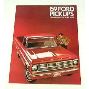 1969 69 FORD PICKUP Truck BROCHURE F350 F100 F250