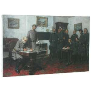at Appomattox Canvas Civil War Art Grant Lee Custer