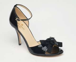 Kate Spade 'Silvy' black patent leather dress heels $325