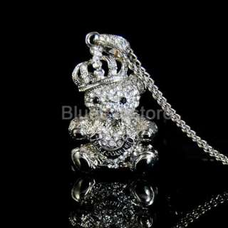 4GB Swarovski Crystal Crown Bear USB 2.0 Flash Drive 4G