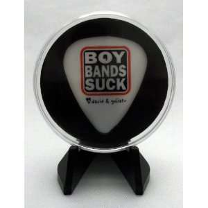 Boy Bands Suck Guitar Pick With MADE IN USA Display Case & Easel