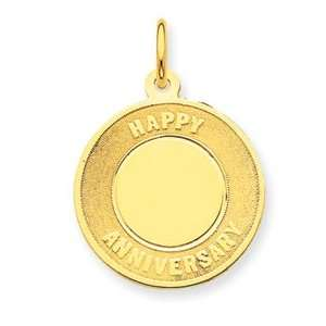 Happy Anniversary Charm   Measures 27.6x19.6mm   JewelryWeb Jewelry