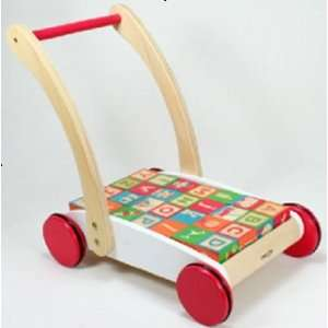 pull & push block car for kid wooden car Toys & Games