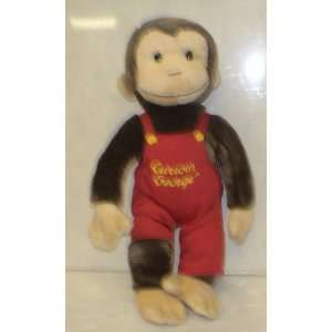 Vintage Curious George 12 Plush Doll Overalls Toys
