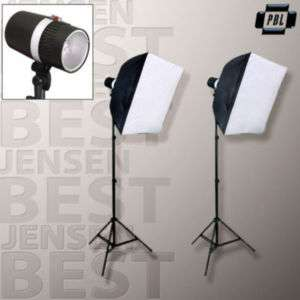 PHOTOGRAPHIC STUDIO STROBE FLASH SOFTBOX KIT 320 W/S