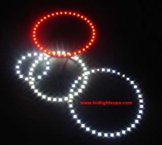2x24 White SMD LED 80mm ANGEL EYE Head Ring lights Lamp