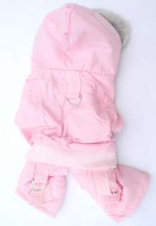 Pink Dog Hoodie Warm Winter Coat Jacket Jumpsuit APPAREL 5 size