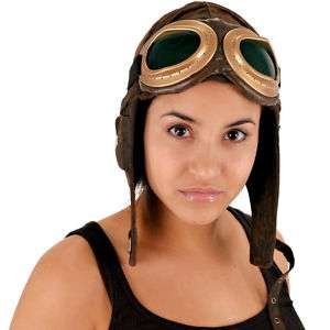 Aviator PILOT HAT Cap World War I costume flying ace brown or black