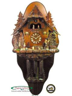Black Forest Cuckoo Clock 8 Day The Witch Cottage NEW