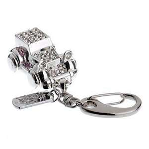 1GB Vintage Car U Disk USB Flash Memory Drive with Rhinestone (Silver)