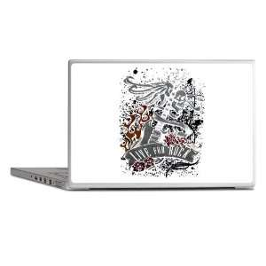 Laptop Notebook 15 Skin Cover Live For Rock Guitar Skull