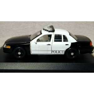 1/43 Welly Black & White Ford Crown Vic Police Car Toys