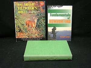 Deer Hunting Bowhunting North American Big Game Hunting 3 Book Lot