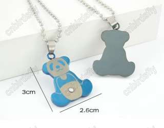 1p NEW Fashion High Quality Heart Lover Necklace Couple Pandent + Xmas