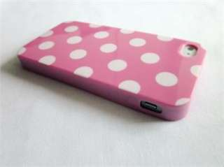 8pcs Soft Gel TPU Plastic Polka Dots Case Cover Skin for iPhone 4 4G