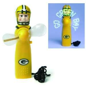 Green Bay Packers Magical LED Light Up Football Fan and Display Stand