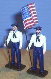 TOY SOLDIERS LEAD CIVIL WAR UNION FLAG SET 2PC 54MM
