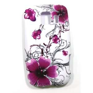 Purple Orchid and Tulip Flower Soft Silicone Skin Gel Cover Case for
