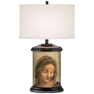 Renaissance Woman Giclee Art Base Table Lamp