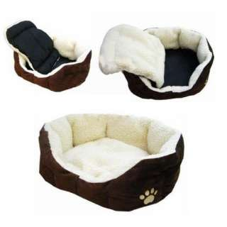 Luxury warm round unique soft Pet dog cat puppy bed New