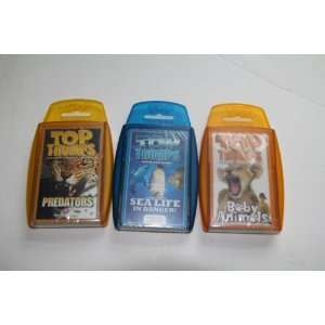Top Trumps card game   Animal favorite 3 pack #1 with Predators