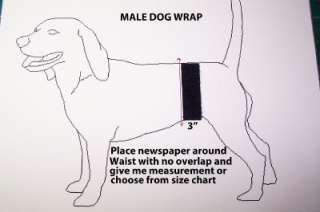 MALE DOG TRAINING/NAPPY BELT/BAND