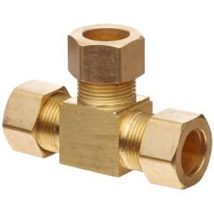 Anderson Metals Brass Tube Fitting, Tee, 5/16 x 5/16 x 5/16