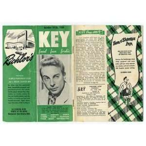 KEY Magazine Food Fun Frolic Los Angeles 1950