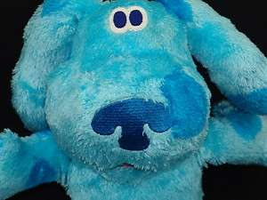 FISHER PRICE BLUES CLUES PUPPY DOG BLUE CARTOON PLUSH STUFFED ANIMAL