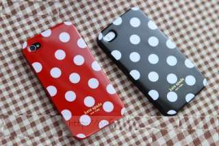 Kate Spade Big Dots Pattern Hard Mobile Case for Apple iPhone 4