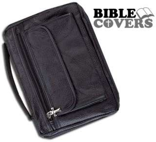 Holy Bible Cover Black Solid Genuine Leather Book Case Tote Bag