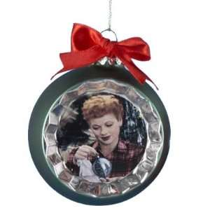 I Love Lucy Green Glass Ball Christmas Ornament