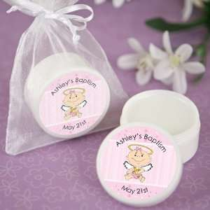 Baby Girl   Personalized Baptism and Christening Lip Balm Favors Baby