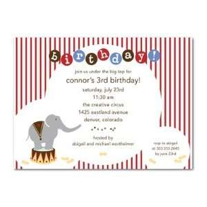 Birthday Party Invitations   Elephant Circus By Simply Put