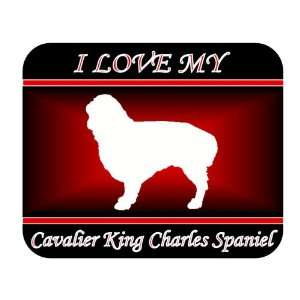 I Love My Cavalier King Charles Spaniel Dog Mouse Pad