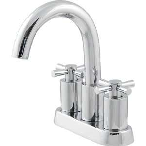Schon 4Chrome Bathroom Sink Faucet Modern Cross Handle