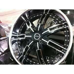 24 INCH STONZ BLACK & CHROME WHEELS,RIMS,5x4.75,5x5,CAPRICE,IMPALA