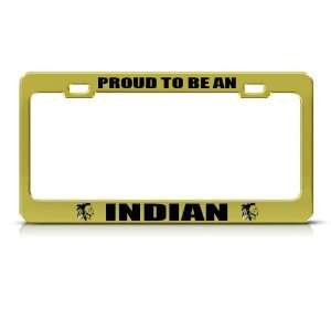 Native American Indian Metal license plate frame Tag