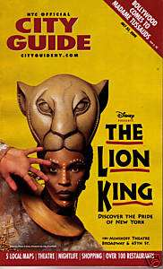 THE LION KING ON BROADWAY   COVER STORY NYC CITY GUIDE