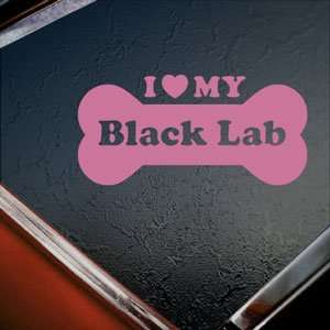I Love My Black Lab Pink Decal Car Truck Window Pink