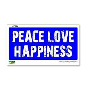 Peace Love Happiness   Window Bumper Sticker Automotive
