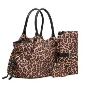 NEW AUTHENTIC KATE SPADE PUFFER LEOPARD PRINT STEVIE BABY BUSINESS BAG