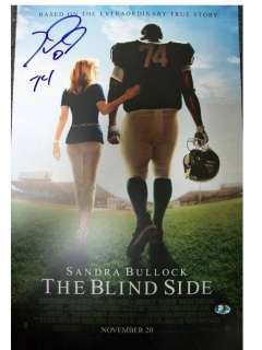 MICHAEL OHER AUTOGRAPHED BLIND SIDE MOVIE POSTER 11X17