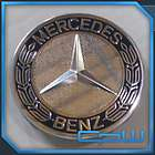 MERCEDES BENZ OEM WHEEL CENTER CAPS BLUE BADGE STYLE
