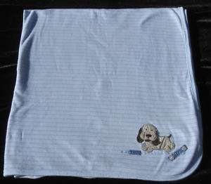 Carters Blue I Love My Puppy Dog Blanket Baby Security