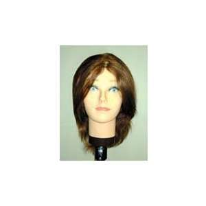 Hairart 12 Long Mannequin Head with Brown Hair #4112 Beauty