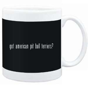 Mug Black  Got American Pit Bull Terriers?  Dogs